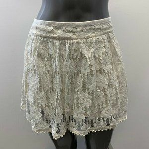 American Eagle Women's Size 8 White lace skirt